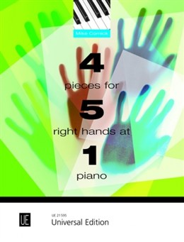 Cornick Mike : 4 Pieces for 5 Right Hands at 1 Piano