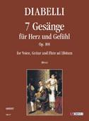 Diabelli Anton : 7 Gesänge für Herz und Gefühl Op. 101
