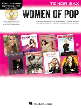 Hal Leonard Instrumental Play-Along: Women of Pop - Tenor Saxophone