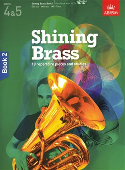 Abrsm Shining Brass Book 2 - Part Book - 2 Cd's - Grades 4 - 5