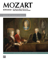 Mozart Wolfgang Amadeus : Sonatas for One Piano, Four Hands