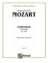 Mozart Wolfgang Amadeus : Bassoon Concerto, K. 191 (Orch.)
