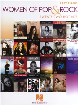 Women Of Pop And Rock : Easy Piano - 22 Hot Hits