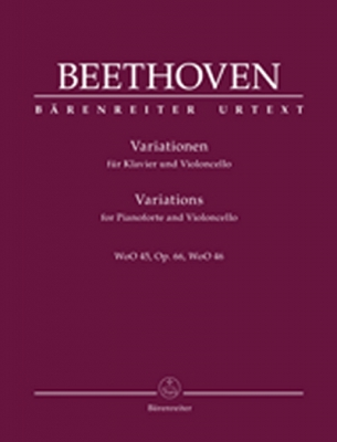 Variations For Pianoforte And Violoncello Op. 66, Woo 45, Woo 46