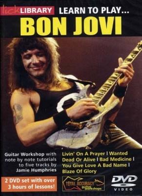 Bon Jovi : Dvd Lick Library Learn To Play Bon Jovi