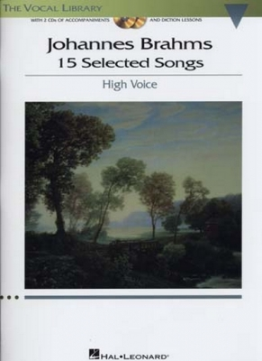 Brahms 15 Selected Songs High Voice/Piano 2 Cd's