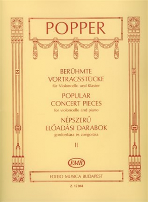 Popper David : POPULAR CONCERT PIECES V2 CELLO/PIANO