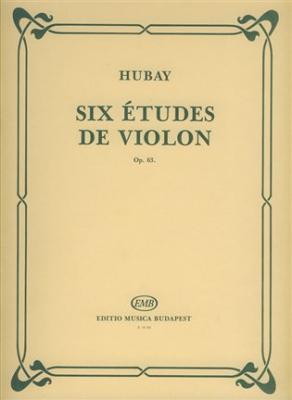 6 Etudes De Violon Op. 63