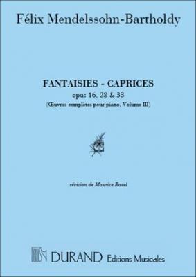 Mendelssohn-Bartholdy Felix : OEUVRES COMPLETES, VOLUME III