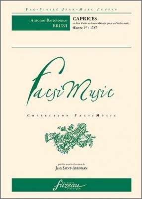 Bruni Bartolomeo : Caprices et Airs variés en forme d'étude pour un violon seul - Oeuvre 1er