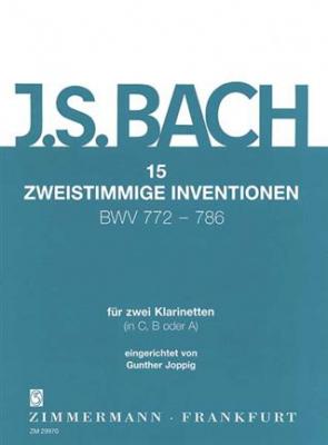 15 Inventions A Deux Voix Bwv 772-786 Pour 2 Clarinettes