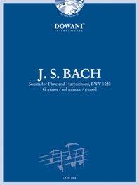 Bach Johann Sebastian : SONATE BWV 1020 in G minor / J.S. Bach - flûte and clavecin