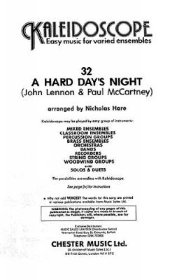 Beatles The (arr. Nicholas Hare) : Kaleidoscope: A Hard Day's Night