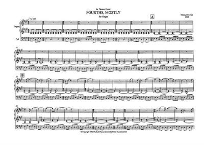 Fourths Mostly For Organ Solo