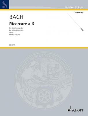 Bach Johann Sebastian : Ricercare a 6 c minor BWV 1079