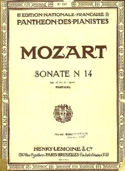 Mozart Wolfgang Amadeus : Sonate no14 KV457 en mib maj.