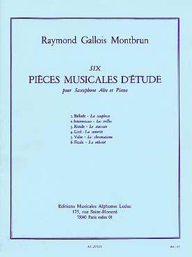 6 Pieces Musicales D'Etude
