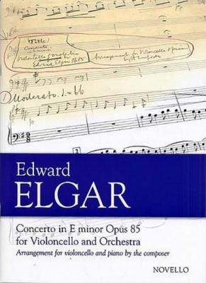 Elgar Edward : Elgar Concerto Cello/Piano In Em Op.85
