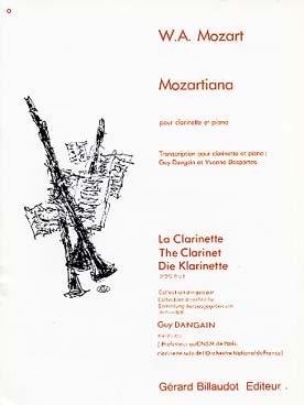 Mozart Wolfgang Amadeus : MOZARTIANA
