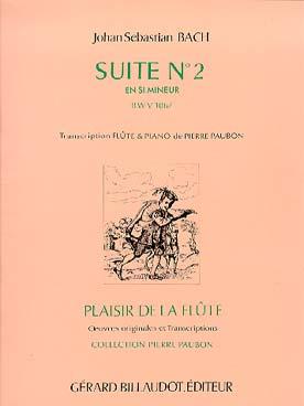 Bach Johann Sebastian : SUITE Nø2 EN SI MINEUR BWV 1067