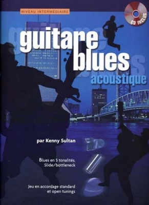 Feger Yves : Guitare Blues Acoustique K.Sultan Tab Cd