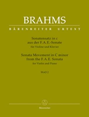 Sonata Movement For Violin And Piano C Minor Woo 2