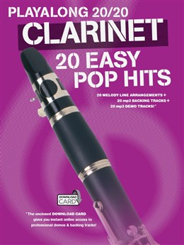 Playalong 20/20 Clarinet: 20 Easy Pop Hits (Book/Audio Download)