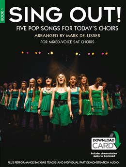 Sing Out! 5 Pop Songs For Today's Choirs - Book 1 - Book - Audio Download