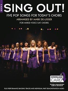 Sing Out! 5 Pop Songs For Today's Choirs - Book 2 - Book - Audio Download