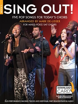 Sing Out! 5 Pop Songs For Today's Choirs - Book 5 - Book - Audio Download