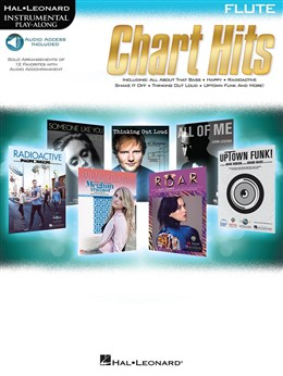 Autuers Divers : Instrumental Play-Along: Chart Hits - Flute (Book/Online Audio)