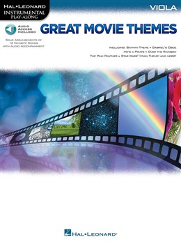 Autuers Divers : Instrumental Play-Along: Great Movie Themes - Viola (Book/Online Audio)