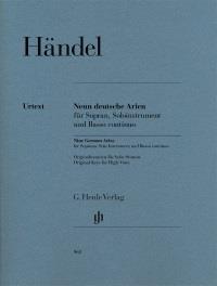 Haendel Georg Friedrich : Nine German Arias -Original keys for high voice