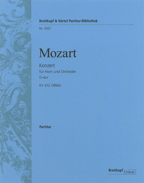 Mozart Wolfgang Amadeus : Horn concerto [No. 1] K. 412 (386b)