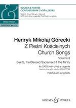 Górecki Henryk Mikolaj : Church Songs (Z Pie?ni Ko?cielnych) Vol. 3