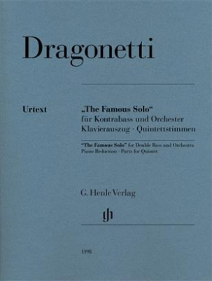 Dragonetti Domenico : The Famous Solo for Double Bass and Orchestra Epuisé