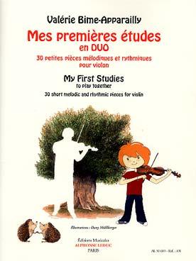 Mes Premières Etudes En Duo : 30 Petites Pièces Mélodiques Et Rythmiques