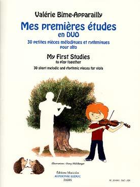 Bime-Apparailly : Mes Premières études en duo : 30 petites pièces mélodiques et rythmiques