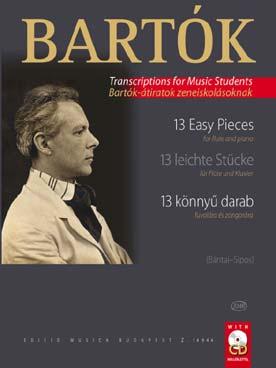 Bartok Béla : 13 Easy Pieces for Flute and Piano