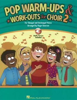 Arr. Roger Emerson : Pop Warm - Ups And Work - Outs - Vol.2 - Book - Online Audio