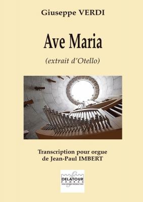 Verdi Giuseppe : Ave Maria (extrait d'Otello) pour orgue