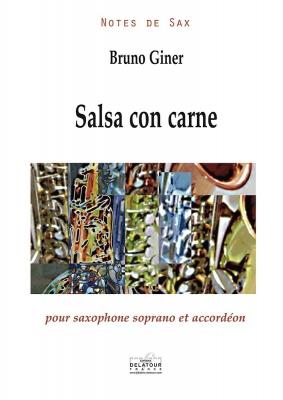 Salsa Con Carne Pour Saxophone Soprano Et Accordéon