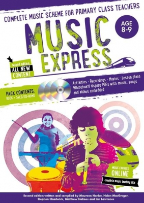 Music Express : Age 8 - 9 - 2Nd Edition - 3 Cd's + Dvd - Rom