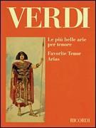 Verdi Giuseppe : PIU' BELLE ARIE PER TENORE PER CANTO E PIANOFORTE