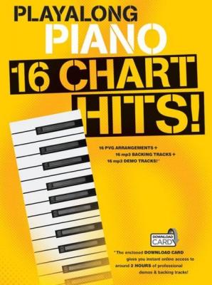 Playalong Piano 16 Chart Hits (Book and Download Card)