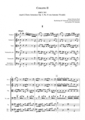 Concerto For Violoncello, Strings And Basso Continuo A Minor