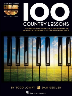 100 Country Lessons Keyboard lesson Goldmine Series + 2 CD