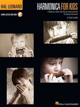 Harmonica For Kids : A Beginner's Guide With Step - By - Step Instruction For Diatonic Harmonica - Book - Online Audio
