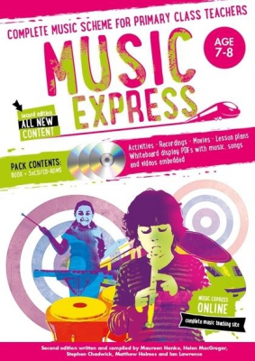 Music Express : Age 7 - 8 - 2Nd Edition - 3 Cd's + Dvd - Rom