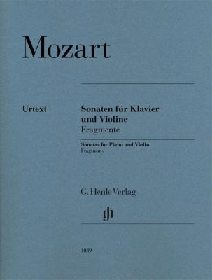 Mozart Wolfgang Amadeus : Violin Sonatas, Fragments